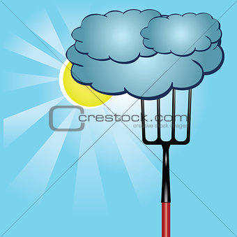 Agricultural poster with the weather
