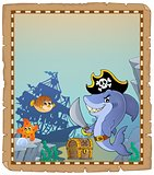 Parchment with pirate shark 2