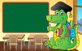 School theme crocodile image 3