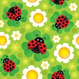 Spring theme seamless background 2