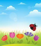 Spring topic background 7