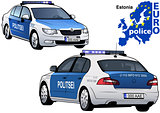 Estonia Police Car