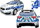 Greece Police Car