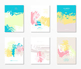 Set of vector postcards