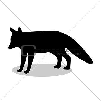 Fox wildlife black silhouette animal