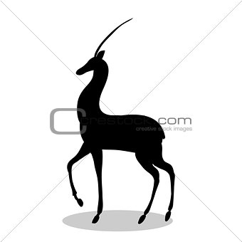 Antelope mammal black silhouette animal