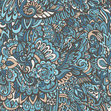 doodle pattern floral background