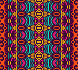 ethnic colorful geometric striped seamless pattern