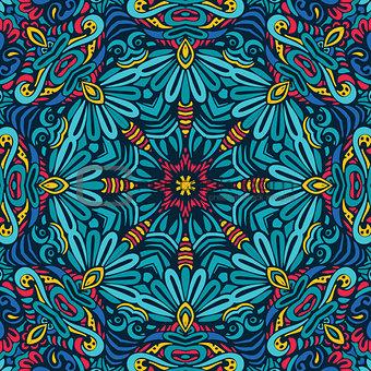 Abstract Festive geometric mandala pattern