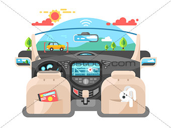Car autopilot computer system