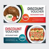 Discount voucher mexican food template design. Set of mole pobla