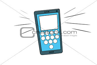 Smartphone calls, touch screen