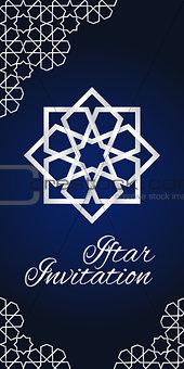 Blue iftar invitation