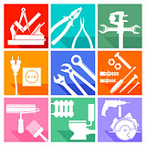 Tool sign, locksmith, carpenter, carpenter, painter, plumber