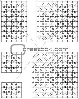 five white puzzles
