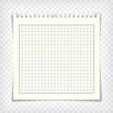 Blank checkered note book page with torn edge