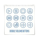 Doodle volume buttons