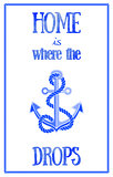 Nautical quote poster.