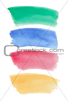 Watercolor gradient banners set.