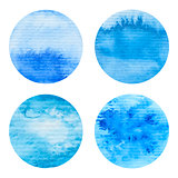 Hand painted watercolor circles set.