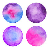 Watercolor circles set.