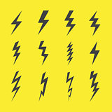 Lightning design flat icons set