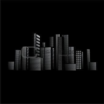 City lights design in front of black background