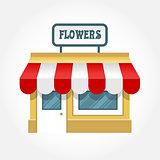 Small shop icon - little store facade