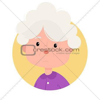 Portrait of pretty grandmother smiling