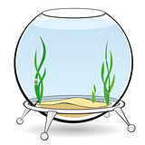 A round aquarium for fish
