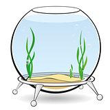 A round aquarium for fish
