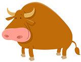 cartoon bull farm animal