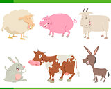 farm animal characters set