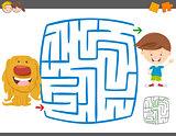 maze leisure activity game