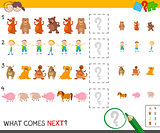 finish the pattern activity game