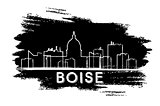 Boise Skyline Silhouette. Hand Drawn Sketch.