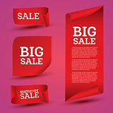 Big Sale Banner Set. Ribbon.