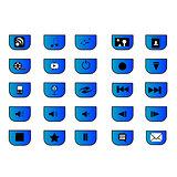 25 media icons