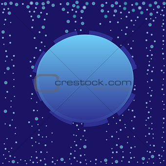 Abstract blue bubble label