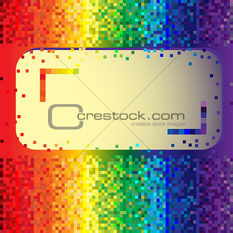 Abstract rainbow background with label
