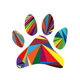 Colorful paw design