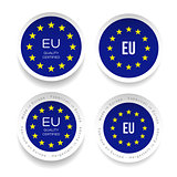 Made in Eu. Certfied Quality sticker