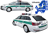 Lithuania Police Car