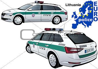 Lithuania Police Car