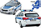 Poland Police Car