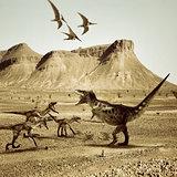 T-rex versus raptors