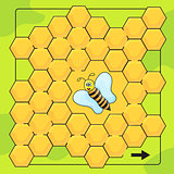 Bee and honeycomb game for Preschool Children. Help bee to walkthrough labyrinth