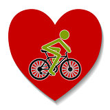 Bicycle in the heart