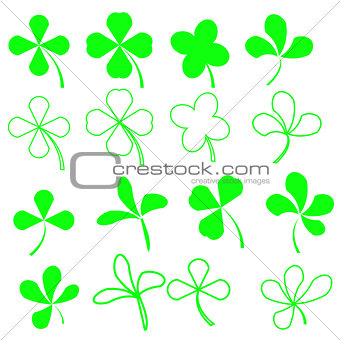 Green Shamrocks Set