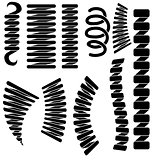 Set of Springs Silhouettes